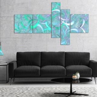Designart 'Blue Watercolor Fractal Pattern' Abstract Art on Canvas