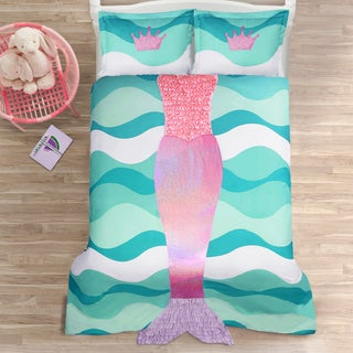 Lush Decor Mermaid Ruffle 3-piece Comforter Set