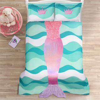 Lush Decor Mermaid Ruffle Comforter Set