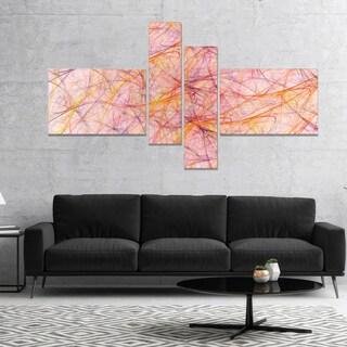 Designart 'Mystic Pink Fractal Veins' Abstract Canvas Art Print