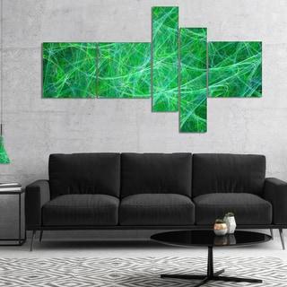 Designart 'Mystic Green Fractal Veins' Abstract Canvas Art Print