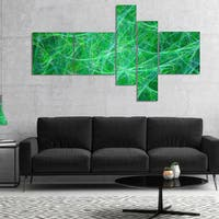 Designart 'Mystic Green Fractal Veins' Abstract Canvas Art Print