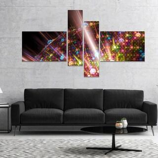 Designart 'Multi Color Solar Bubbles Planet' Abstract Canvas Art Print