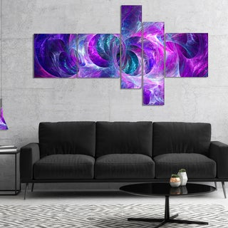 Designart 'Snow Purple Fractal Texture' Abstract Canvas Art Print
