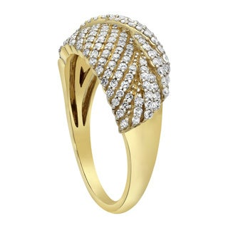 Beverly Hills Charm 14K Yellow Gold 2/3ct TDW Diamond Ring - White H-I