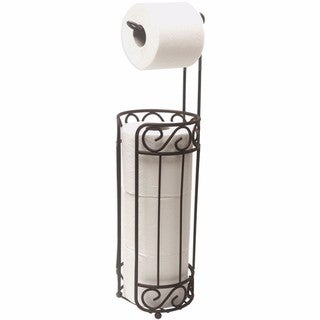 Home Basics Bronze Toilet Paper Holder and Dispenser