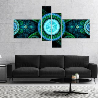 Designart 'Bright Blue Psychedelic Relaxing Art' Abstract Canvas Art Print