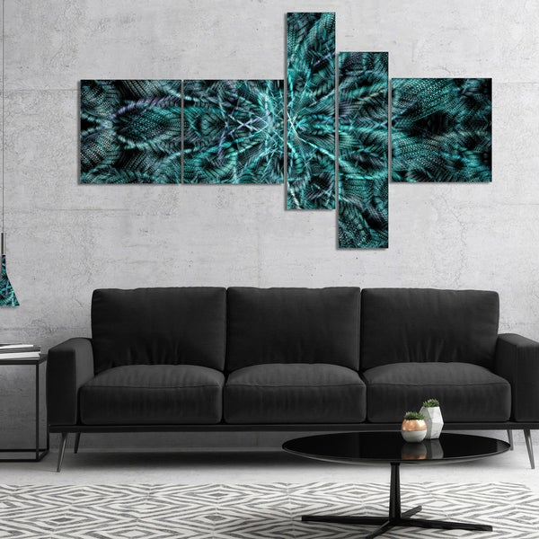 Designart 'Unusual Starry Fractal Metal Grill' Abstract Canvas Wall Art