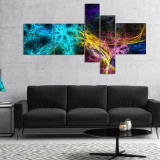 Designart 'Glowing Abstract Fireworks' Abstract Canvas Art Print