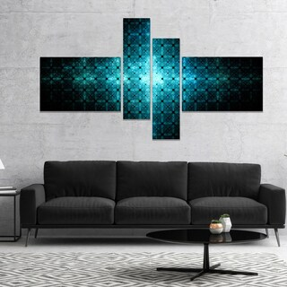 Designart 'Blue Flash of Light on Radar' Abstract Wall Art Canvas