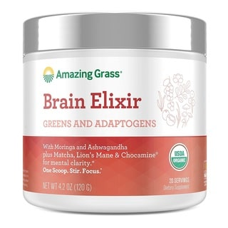 Amazing Grass Organic 4.9-ounce Brain Elixir