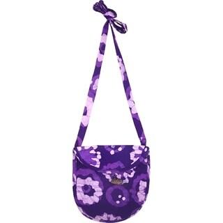 Hand Batiked Minimalist Bag in Purple Meadow (Ghana)