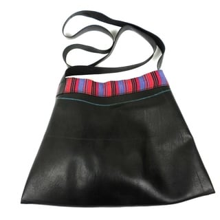 Upcycled Sling Design Large Inner Tube Bag (Nepal)