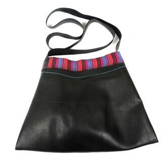 Upcycled Sling Design Large Inner Tube Bag (Nepal)