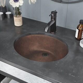 R7-4001 Single Bowl Bronze Bathroom Sink with Grid Drain