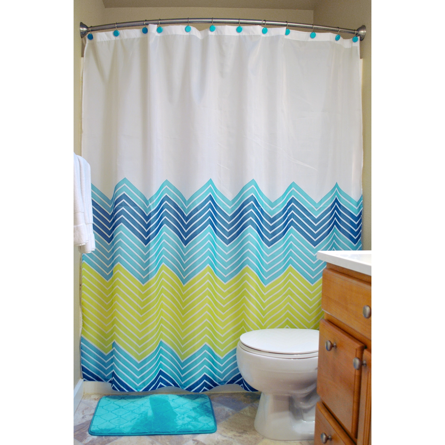 Shop 14 Piece Shower Curtain And Rug Set Free Shipping On Orders