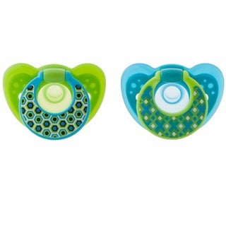 The First Years GumDrop Hospital Pacifier With Ring - 6-18 Months - Boy