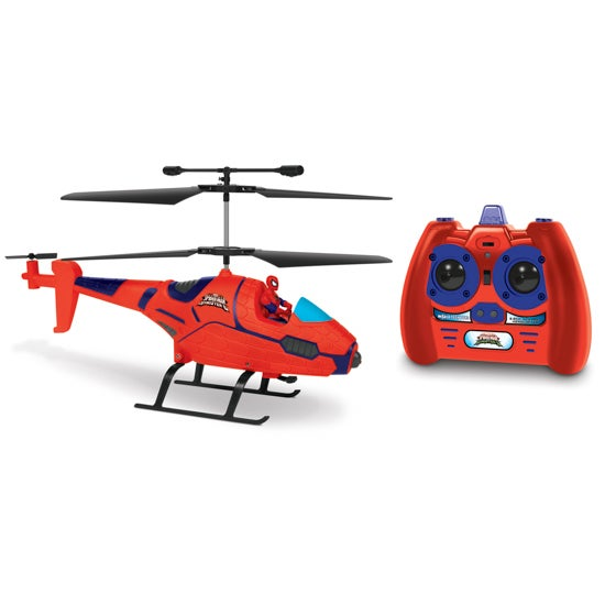 3.5ch Spiderman with Figure Marvel IR Helicopter
