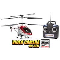 Spy Hercules Camera Unbreakable 3.5CH RC Helicopter - Red