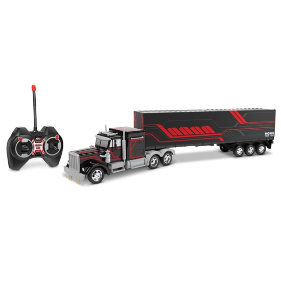 Semi Truck with Back Container