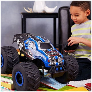 The Outlaw Big Wheel Off-Road 4x4 1:8 RTR Electric RC Monster Truck- Blue