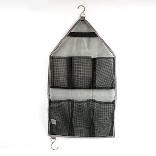 Grey Mesh Bathroom Organizer