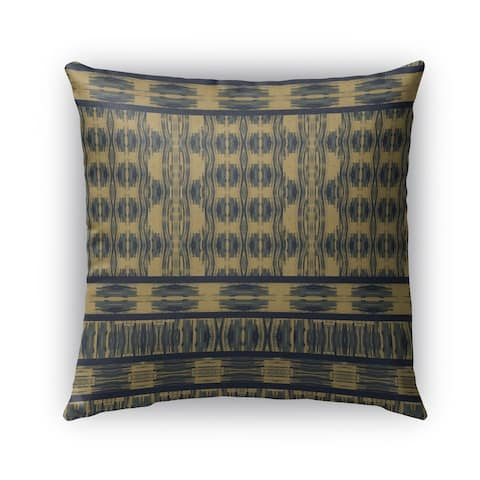 Kavka Designs blue; beige appablue outdoor pillow with insert