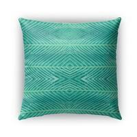 Kavka Designs green blue green palms outdoor pillow with insert