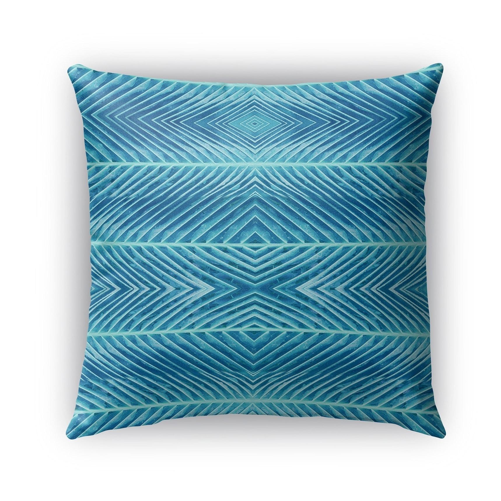 Kavka Designs blue blue palms outdoor pillow with insert (16 x 16)
