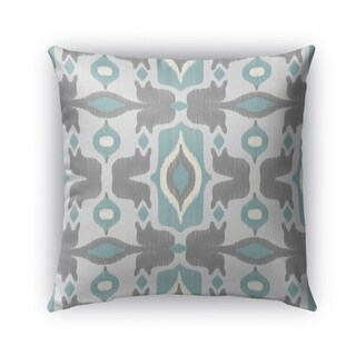 Kavka Designs ivory; turquoise; grey cosmos blue outdoor pillow with insert