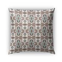 Kavka Designs ivory; turquoise; brown mojave outdoor pillow with insert