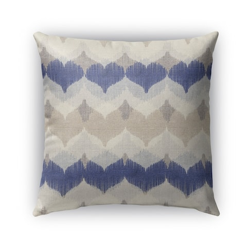 Kavka Designs blue; ivory; tan aria outdoor pillow with insert