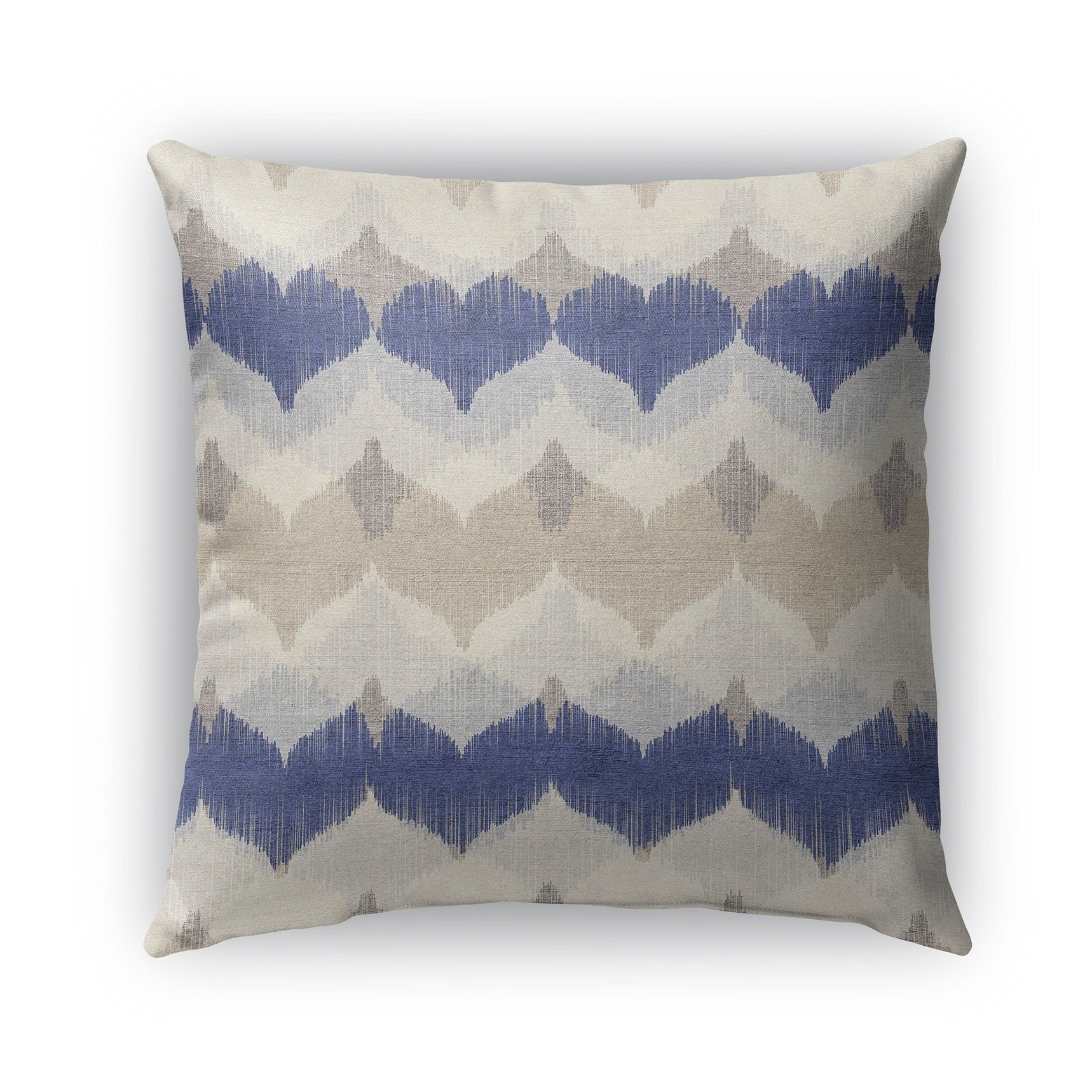 Kavka Designs blue; ivory; tan aria outdoor pillow with insert (16 x 16)
