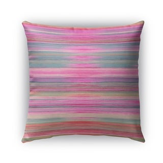 Kavka Designs pink; purple; blue abstract sunset outdoor pillow with insert