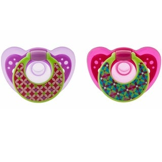 The First Years GumDrop Hospital Pacifier With Ring - 6-18 Months - Girl