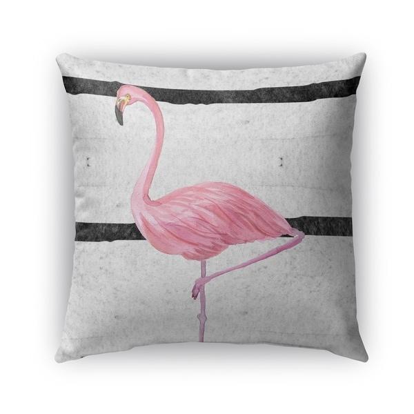 Shop Kavka Designs Grey Pink Black Flamingo Outdoor