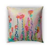 Kavka Designs pink; blue; tan tomboy with pigtails outdoor pillow with insert