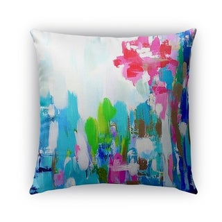 Kavka Designs blue; green; pink; red; ivory ll outdoor pillow with insert