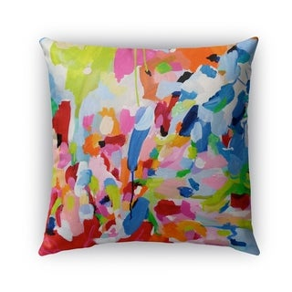 Kavka Designs blue; pink; orange; red; grey; brown; green boom boom boom outdoor pillow with insert