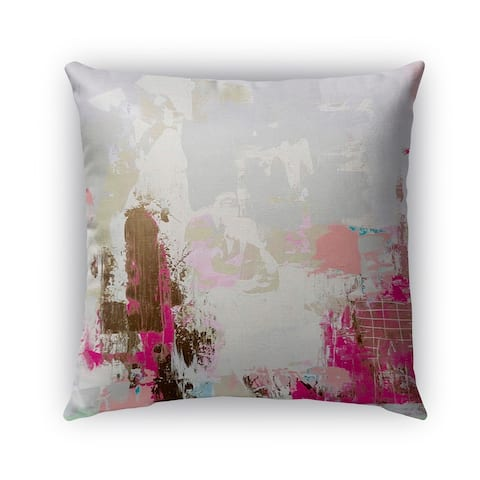 Kavka Designs grey; brown; pink; valley talk outdoor pillow with insert