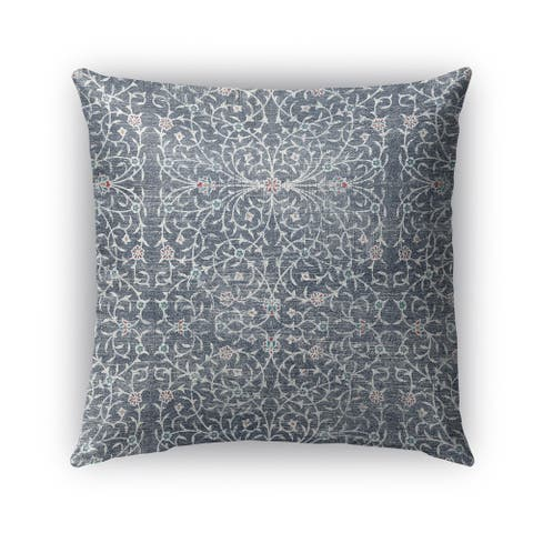 Kavka Designs grey palma outdoor pillow with insert