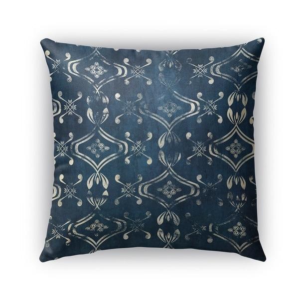 Kavka Designs blue el dorado blue outdoor pillow with insert