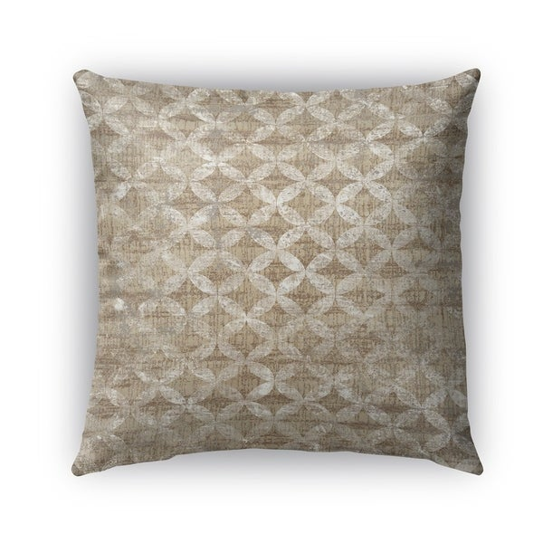 Kavka Designs tan; ivory guadalupe outdoor pillow with insert