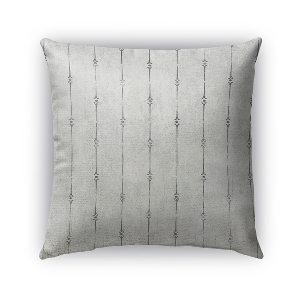 Kavka Designs grey lineage outdoor pillow with insert