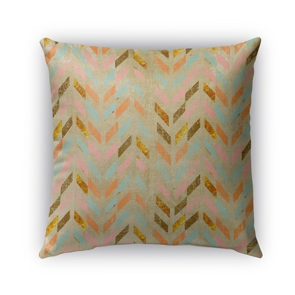 Kavka Designs pink; teal; brown palermo outdoor pillow with insert