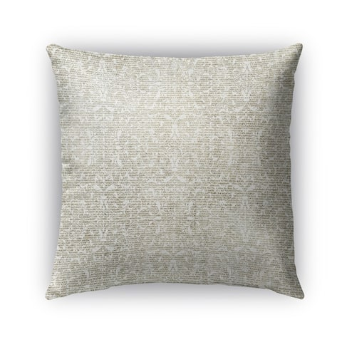 Kavka Designs grey florence outdoor pillow with insert
