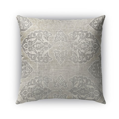 Kavka Designs grey leon outdoor pillow with insert