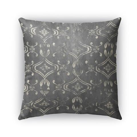 Kavka Designs grey el dorado grey outdoor pillow with insert