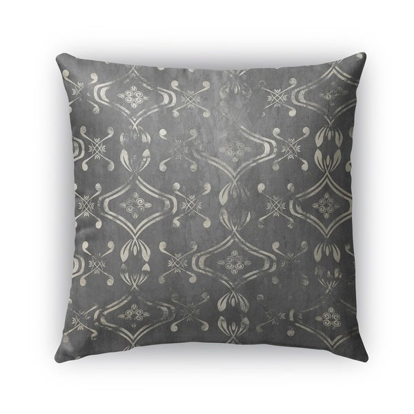 Kavka Designs grey el dorado grey outdoor pillow with insert