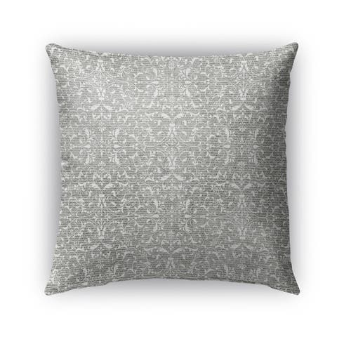 Kavka Designs grey pamplona outdoor pillow with insert